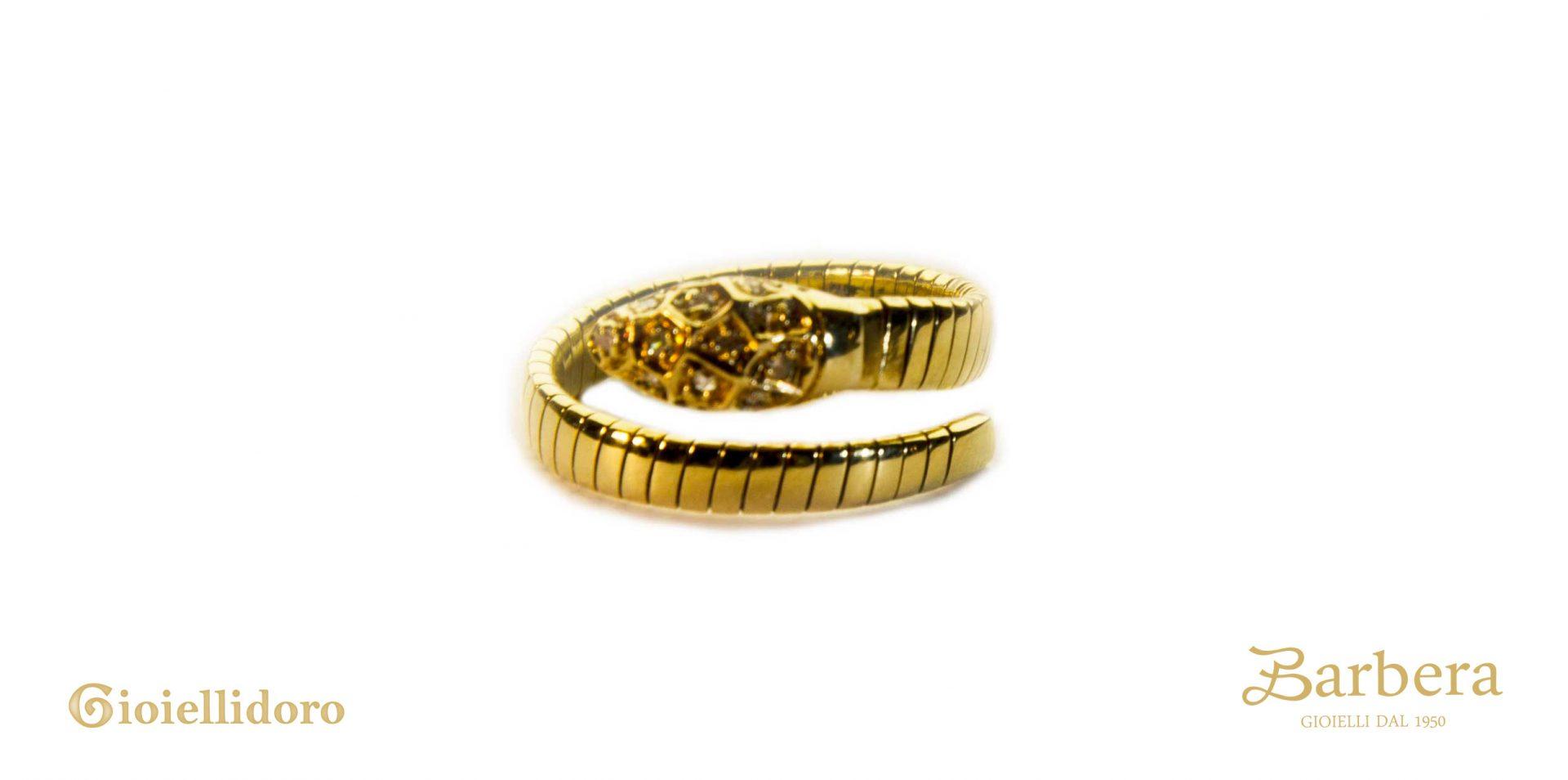 anello donna vintage serpente