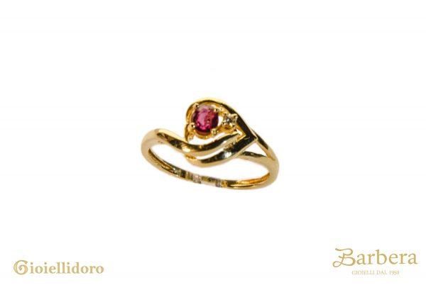 anello a cuore stile vintage