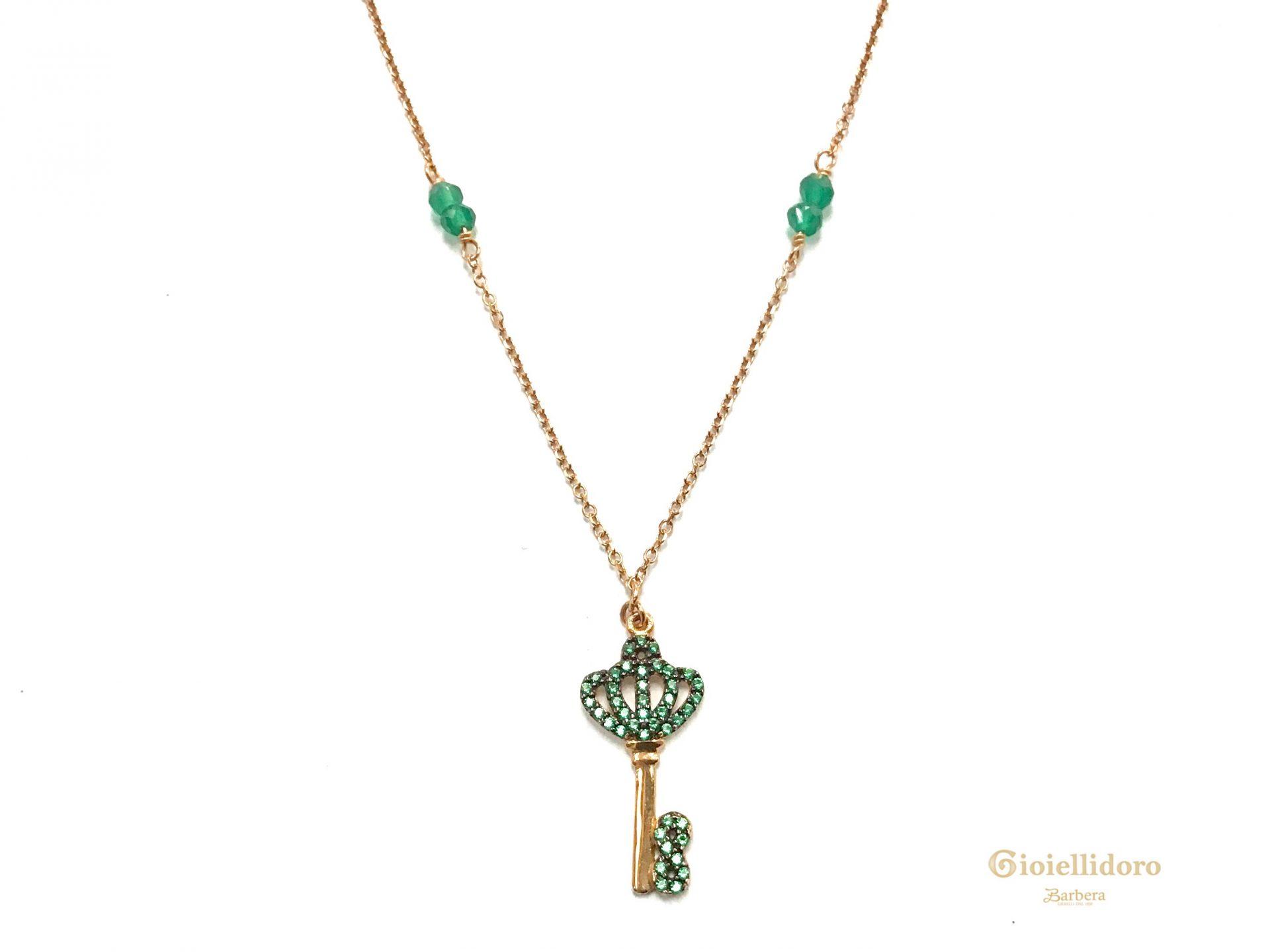 Chiave con smeraldo